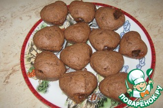 Шоколадные маффины с повидлом