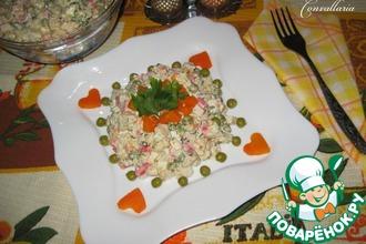 Салат с цветной капустой и крабовыми палочками