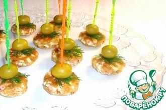 Закусочные мини-биточки с крабовыми палочками