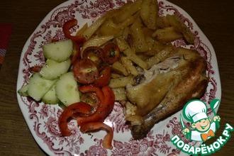 Картофель жареный с луком, чесноком, специями