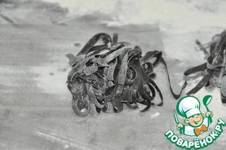 Паста с чернилами каракатиц