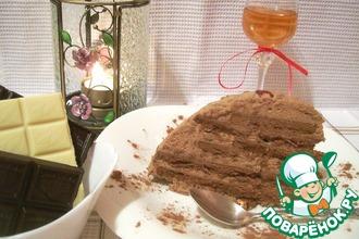 Суфлейный тортик из печенья