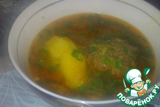 Кюфта бозбаш-суп с тефтелями