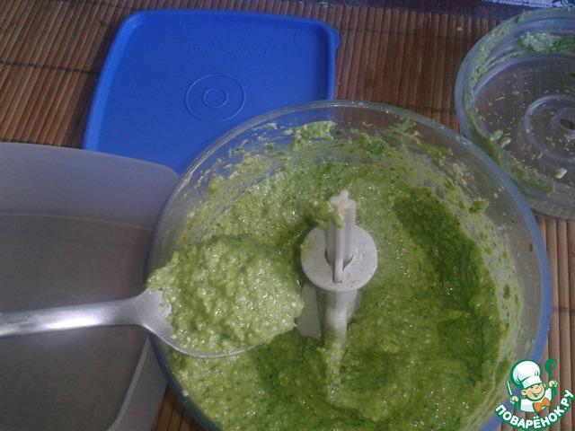 Пробиваем в блендере до однородной массы красивого зеленого цвета.
