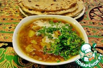 """Индийский суп """"Дал"""" с овощами"""