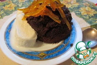 Теплый и мягкий шоколадный десерт