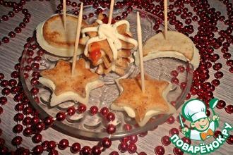 """Печенье """"Новогодняя ночь"""" из колбасного теста"""