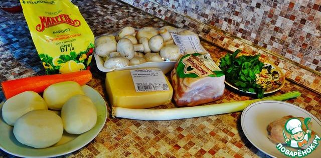 Для приготовления данного блюда нам потребуются эти продукты. Ещё плюс к этому растительное масло и паприка молотая.