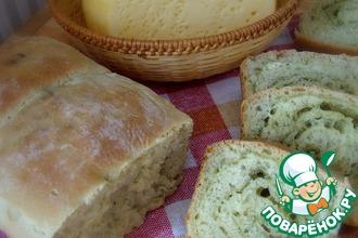 Пшеничный хлеб с сыром и укропом