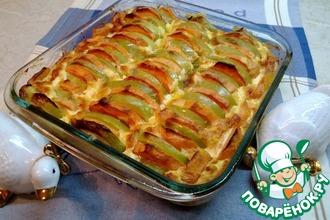 Запеченный батат с яблоками