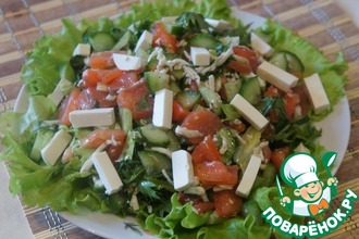 Салат из форели с фетой
