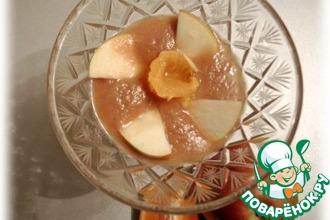 Яблочно-банановый мусс