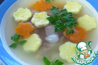 Диетический суп с омлетом