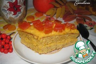 Тыквенно-миндальное пирожное