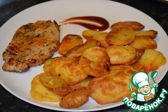 Картофель на решетке
