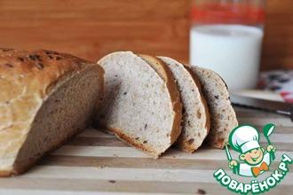 Горчичный хлеб из цельнозерновой муки с льном