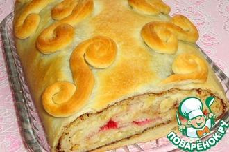 Пирог-рулет с тремя начинками
