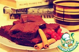 Брауни с темным шоколадом