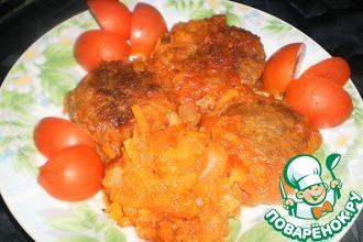 Гречневые котлетки с овощным соусом