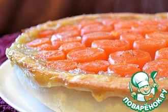 Тарт татен с морковью и луком