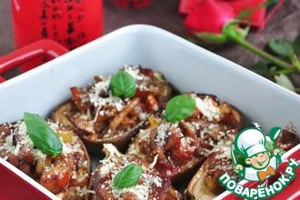 Баклажаны, запеченные с мясом и овощами