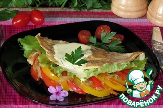 Воздушный омлет с диким рисом и овощами