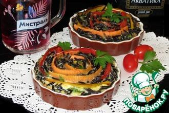 Мини-запеканка с диким рисом и овощами