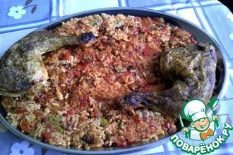 """Рис """"КОККИНИСТО"""" с овощами и курицей в духовке"""