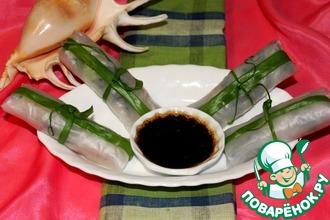 Спринг роллы с диким рисом и креветкой