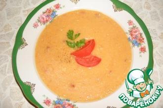 Гороховый крем-суп цвета солнца