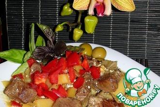 Баранина с овощами в горшочке