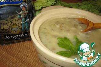 Суп-пюре из риса с белым вином