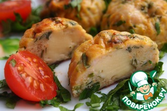 Курино-овощные шарики с сыром