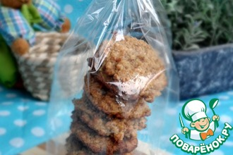 Постное овсяное печенье с грецкими орехами