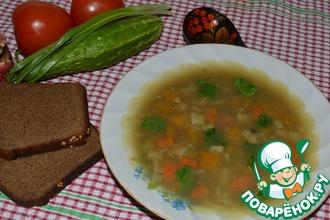 Гороховый суп с чечевицей и копченой морковью