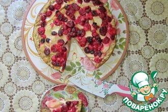 Деревенский пирог с яблоками и клюквой
