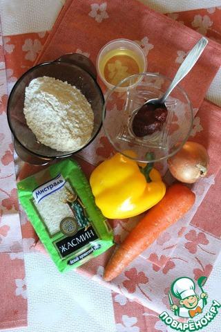 """В данном рецепте будем использовать рис Жасмин ТМ """"Мистраль"""", овощи, масло подсолнечное, мука. Эти продукты найдутся в доме у каждой хозяйки. Блюдо сытное, вкусное и ПОСТНОЕ."""