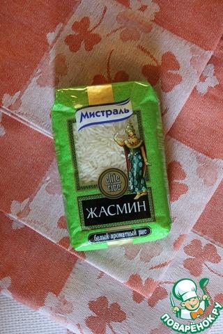 Пока готовятся овощи - берем рис, промываем