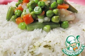 Рисовое кольцо с овощами
