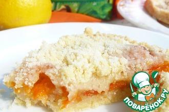 Пирог с абрикосами и цедрой лимона
