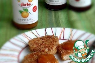 Творожно-рисовые биточки в миндале с абрикосовым конфитюром