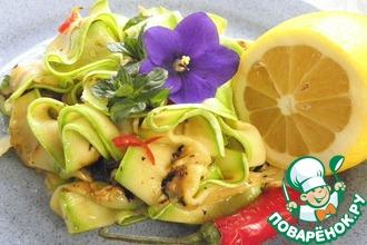 Салат из кабачков с мятой