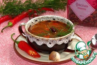 Постный суп Чили с фасолью