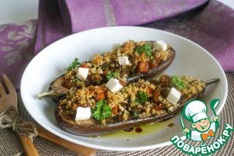 Баклажаны, фаршированные картофелем и грибами