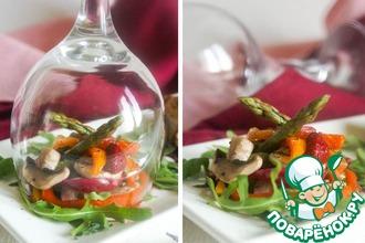 Горячий салат с малиновым ароматом