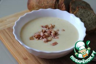 Картофельный суп-пюре с сыром и беконом
