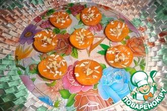 Желе из киви в абрикосовых дольках