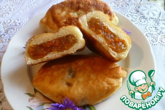 Жареные пирожки с тыквенно-яблочной начинкой