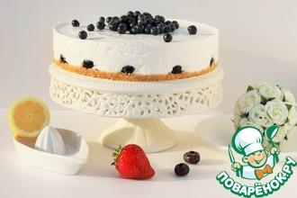Йогуртовый тортик с ягодами без выпечки