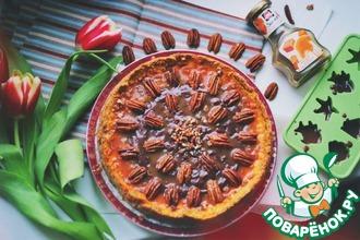 Чизкейк с карамелью и орехами пекан
